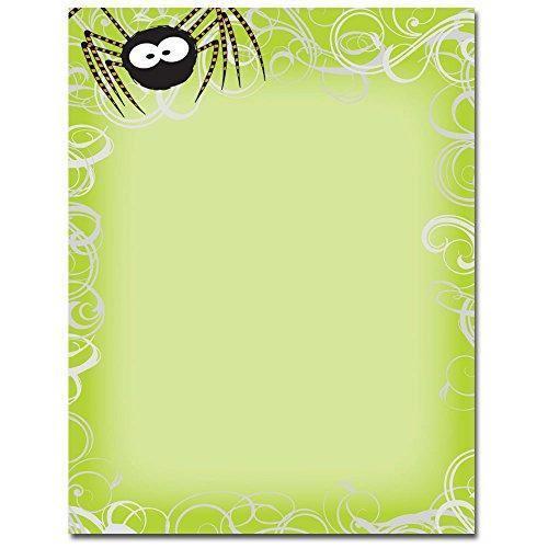 Halloween Spider Swirls Letterhead & Printer Paper