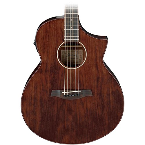 Ibanez-AEW40FFCD-6-String-Acoustic-Electric-Guitar-21-Frets-AEW-Neck-Rosewood-Fretboard-Walnut-Body-Back-Sides-Gloss-Polyurethane-Natural-High-Gloss