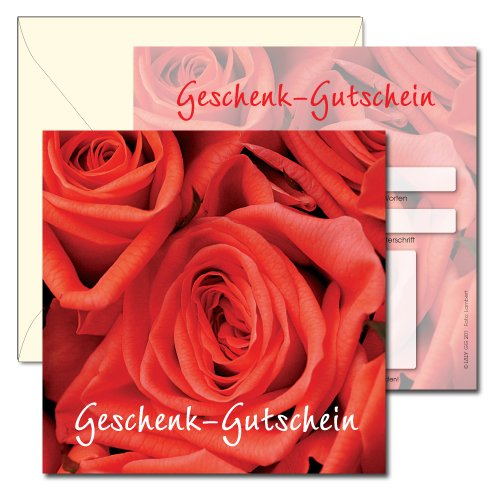 Geschenk-Gutschein mit KuGrün  Blaume  - GG 201 – 116x116mm – 100 Stück B00JPDX36Q | Kaufen Sie online