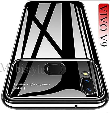 wholesale dealer 249c5 ccca5 mobistyle Back Case Camera Lens Protection Luxury and Elegant Cover for  Vivo V9 (Black)