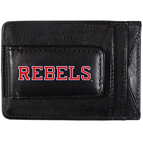 NCAA Mississippi Ole Miss Rebels Logo Leather Cash & Cardholder, Black