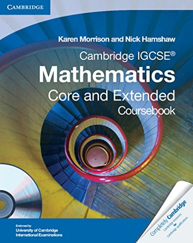 Cambridge IGCSE Mathematics Core and Extended Coursebook with CD-ROM (Cambridge International IGCSE)