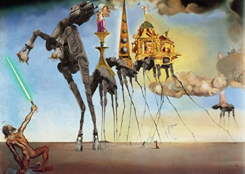 Salvador Dali - Temptation St Anthony Art - HUGE LAMINATED/ ENCAPSULATED POSTER - Measures 91.5 x 61 cm ( 36 x 24 inches )