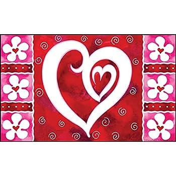 Amazon Com Densy Door Mats Valentine S Day Fabric Indoor