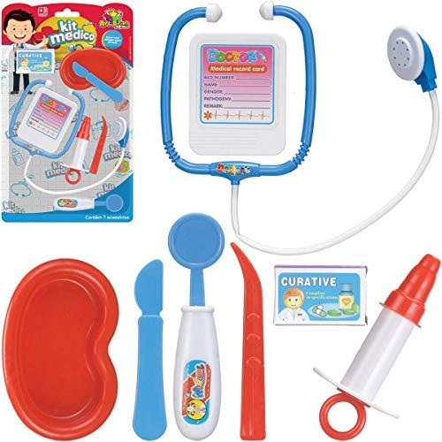 Brinquedo Kit Médico Boy, Art Brink, 839729, Multicor, 7 Peças