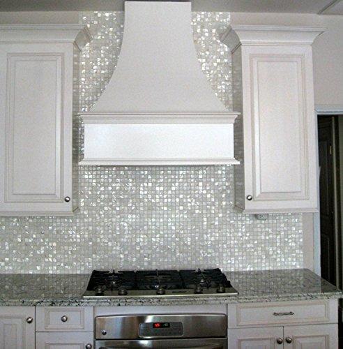 Vogue Tile Oyster Mother of Pearl Square Shell Mosaic for Kitchen Backsplashes, Bathroom Walls, Spa Tile, Pool Tile (Pack of 5 Sheets)