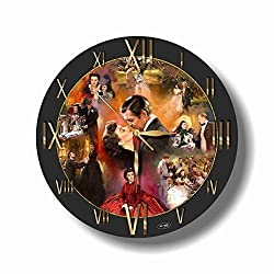 Gone with The Wind 11.4'' Handmade Wall Clock - Get Unique décor for Home or Office - Best Gift Ideas for Kids, Friends, Parents and Your Soul Mates.