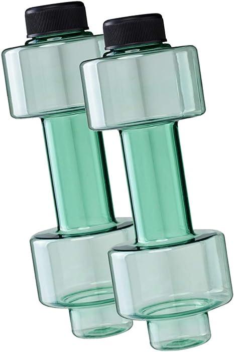 FUN FAN LINE - Pack x2 Botella mancuerna de Medio Kilo Cada una para Entrenamiento en casa. Botellas Que se llenan de Agua para Trabajar musculación sirviendo como Pesas. Capacidad 500 ml