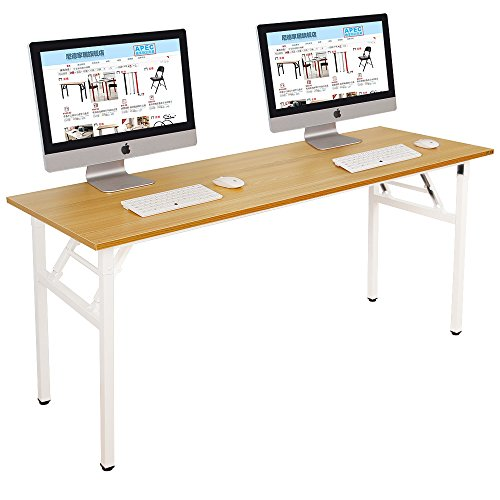 "Need Computer Desk Office Desk 63"" Folding Table with BIFMA Certification Conference Table Workstation, AC5BW-160"