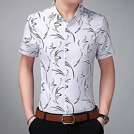 JING camisa Camisa de Manga Corta de Manga Corta de Hombre ...