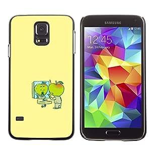 LECELL--Funda protectora / Cubierta / Piel For Samsung Galaxy S5 SM-G900 -- Minimalist Cartoon Yellow Kids --