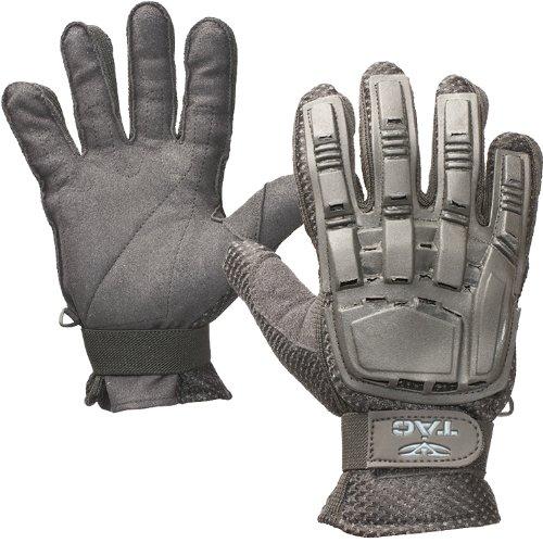 Valken V-TAC Full Finger Plastic Back Airsoft Gloves, Black, Medium