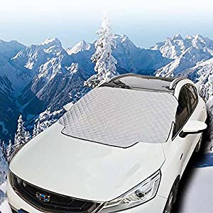 Car Windscreen Snow Cover, FREESOO Windshield Frost Covers Anti Foil Ice Dust Sun Aluminum Shield Screen Protector in all Weather Medium 183cm116cm