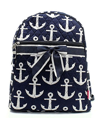 Handbag Nautical Anchor Backpack Quilted Print rq4wr