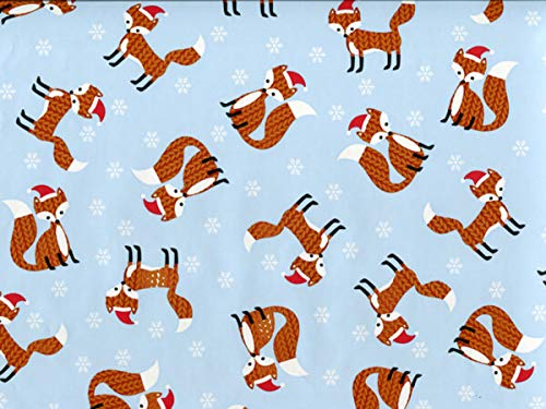 Gift Wrap Paper – 30 inches x 25 feet – Knitted Fox