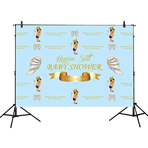 Mehofoto Birthday Party Photography Backdrop 10x7ft Angel Wing Cute Prince Background for Children Baby Shower Dessert Table Decor (Cute Halloween Desserts For Kids)