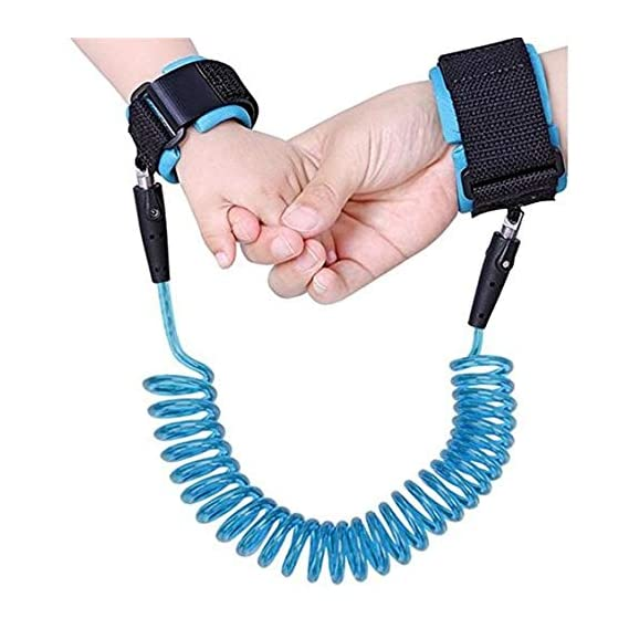 MNE Child Safety Anti Lost Wrist Link Harness Strap Rope Leash, Walking Hand Belt(Multicolour)