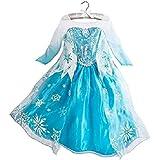 DaHeng Girls Princess Elsa Fancy Dress Costume