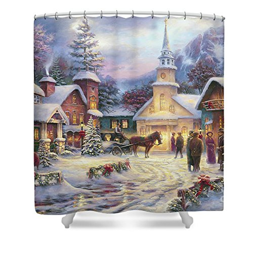 Pixels Shower Curtain (74'' x 71'') ''Faith Runs Deep'' by Pixels