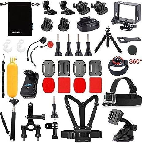 NUOVO 30 in1 POLE Testa Petto Cinghia Mount GoPro Hero 2 3 4 5 accessori per fotocamera KIT