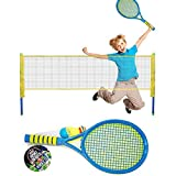 Children Tenny Kids Tennis Set with 2 Balls 2 Rackets Summer Outdoor Kids Play