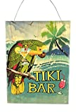 """This wooden sign features a Colorful Parrot with the words """"Tiki Bar"""". It is designed to weathered. It would make a great addition to your tropical decor. Measures: 15.75"""" tall x 11.75"""" wide."""