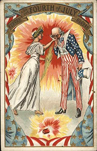 - Hurrah! For the Fourth of July, Hurrah! 4th of July Original Vintage Postcard