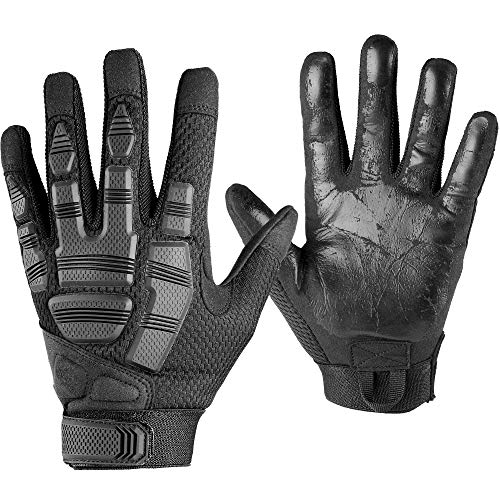 AXBXCX Tactical Gloves Army Full Finger Outdoor Gloves for Airsoft Paintball Hunting Hiking Military ATV Hunting Shooting Motorbike Motorcycle Riding Driving Work Gear Black L