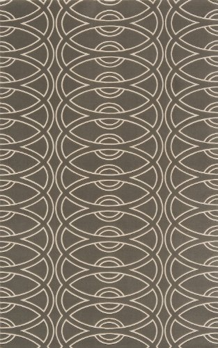 Momeni Rugs ELEMTEL-29GRY5080 Elements Collection, 100% New Zealand Wool Hand Carved Contemporary Area Rug, 5' x 8', (Momeni Elements Collection)
