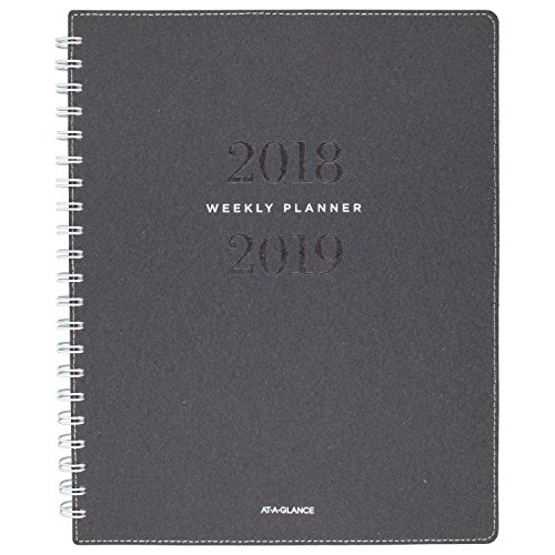 at-A-Glance 2018-2019 Academic Year Weekly & Monthly Planner, Large, 8-3/4 x 11, Signature Collection, Heather Gray ()