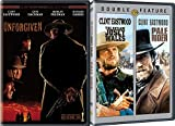Unforgiven + The Outlaw Josey Wales, Pale Rider Clint Eastwood classic Western icon DVD Pack 3 Movie Set Action Bundle