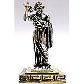 Ancient Statue Poseidon King Of Sea Olympian God Miniature Sculpture Zamac