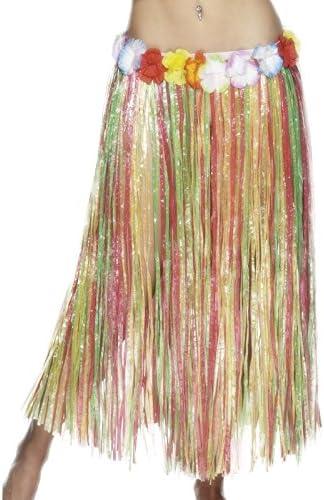 Smiffys-22330 Falda Hawaiana, con Flores, Cintura elástica, 79cm ...