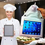 "New Lower Price! Waterproof, Suction-Mount iPad Case - Shower Holder for iPad, iPad Mini, 9.7"" Tablets"