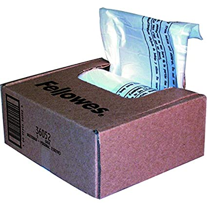 Fellowes Shredder Bags (23-28 litres - pack of 100),Transparent