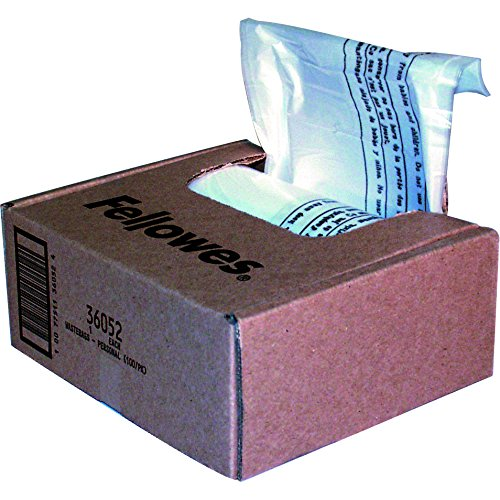 Fellowes Powershred Shredder Bags for All Personal Models, 100 Bags & Ties (36052) by Fellowes