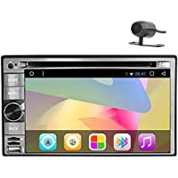 EinCar 6.2 inch Android 6.0 Marshmallow OS Car Stereo System in Dash Automotive Car DVD CD Player Autoradio Bluetooth support Wifi GPS Screen Mirror 1080P Multimedia + Free Rear Camera
