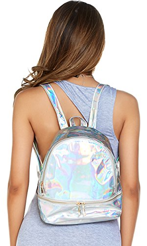 Forplay Mini - Forplay Women's Iridescent Mini Backpack, Silver, O/S