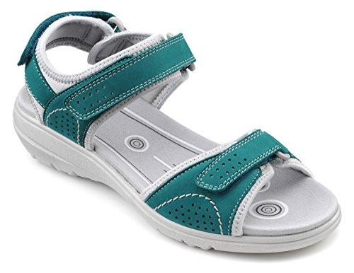 Wide Damen Aquamarin Blue Extra Mae Heiße Sandal tfwvAAq