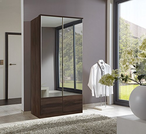 Imago German Walnut 2 Door Mirror Door Wardrobe Wimex