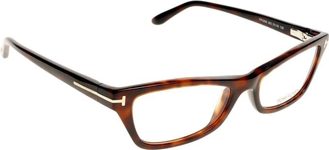 c2177a5202 Eyeglasses Tom Ford FT 5265 052 Dark Havana Clear Lens at Amazon Women s  Clothing store  Prescription Eyewear Frames