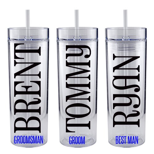Personalized Groomsman Tumbler - Wedding Party - Acrylic Tumbler - Groom Gift (1) (Jack Daniels Stein compare prices)