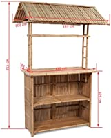 vidaXL Set Barra de Bar Bambú 2 Sillas Plegables Techo Jardín Terraza Tropical: Amazon.es: Hogar