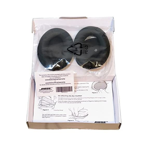 Bose QuietComfort 15 ear cushion kit, Black 2 Compatible with QuietComfort 15 Acoustic Noise Cancelling headphones Counterfeit QC15 ear cushion does not come with original Bose packaging.  Request refund if order received in a ziploc plastic bag without manufacturer's documents New sealed in original Bose packaging with accessories