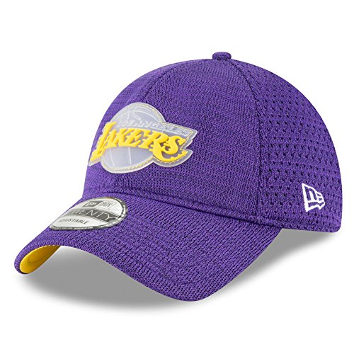 New Era Los Angeles Lakers 2018 On Court Collection Adjustable Strapback Hat - Court Angeles Los Lakers