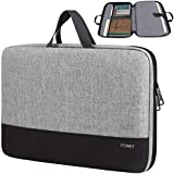 Ytonet Laptop Sleeve Case, 15.6 inch Slim Water Resistant TSA Laptop Case, Durable Business Briefcase Handle Bag for 15.6 inch HP Dell Lenovo Asus Notebook, Gifts for Men Women, Grey