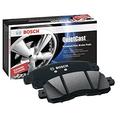 Bosch BC731 QuietCast Premium Ceramic Disc Brake Pad Set For 2004-2009 Cadillac XLR; 1997-2013 Chevrolet Corvette; 2005-2006 Pontiac GTO; Front: Automotive