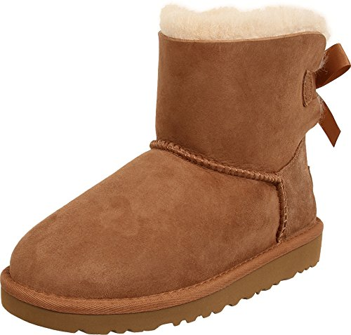 UGG Australia Girls' Mini Bailey Bow Sheepskin Fashion Boot Chestnut 5 M US by UGG