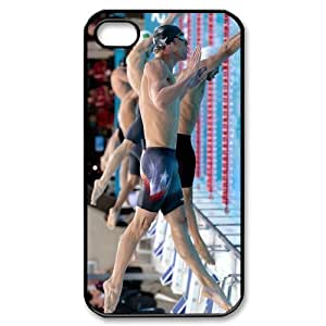 EVA Michael Phelps iPhone 4,4S Case,Snap-On Protector Hard Cover for iPhone 4,4S
