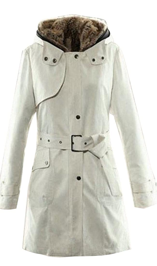 Apricot Honey GD Women's Winter Slim Fitted FullZip Long Sleeve Coat Jacket